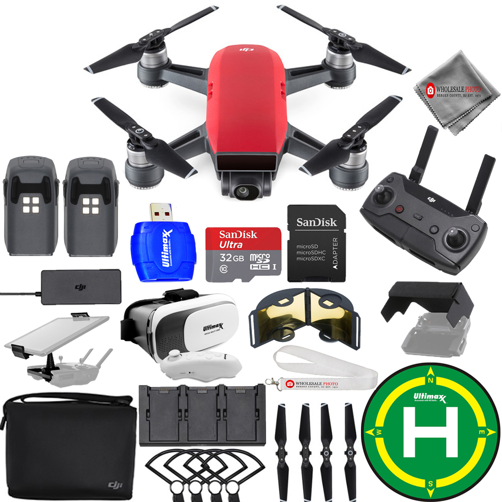 Details about DJI Spark Fly More Combo (Lava Red) EXTREME ACCESSORY BUNDLE  Brand New