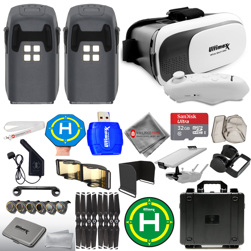 Details about DJI Spark 2 Battery Accessory Bundle! With VR Goggles,  Waterproof Case + MORE!