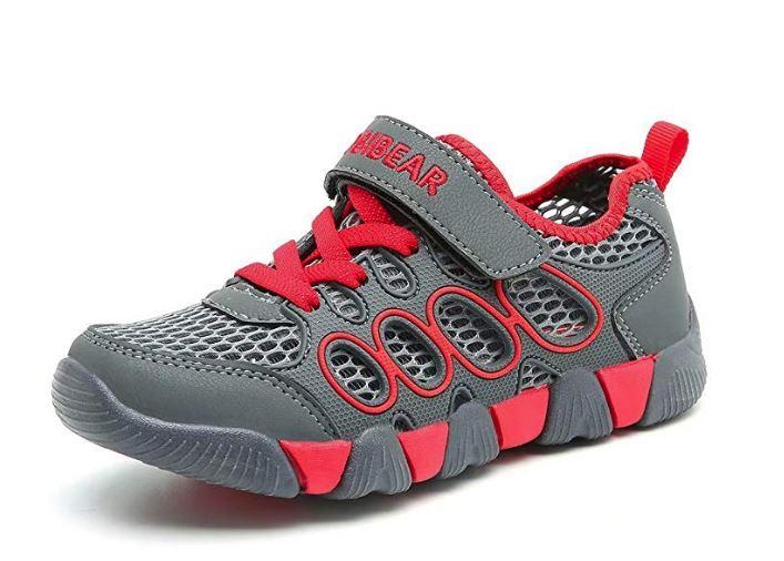 HOBIBEAR Kids Outdoor Sneakers, Strap