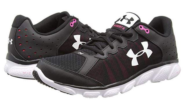 4e6d858966d Under Armour Womens Micro G Assert 6 Running Shoe Black Harmony Red 7 Free  S H