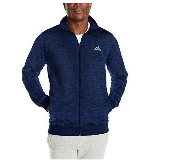 NEW ADIDAS MEN'S Essentials 3 Stripes Tricot Track Jacket