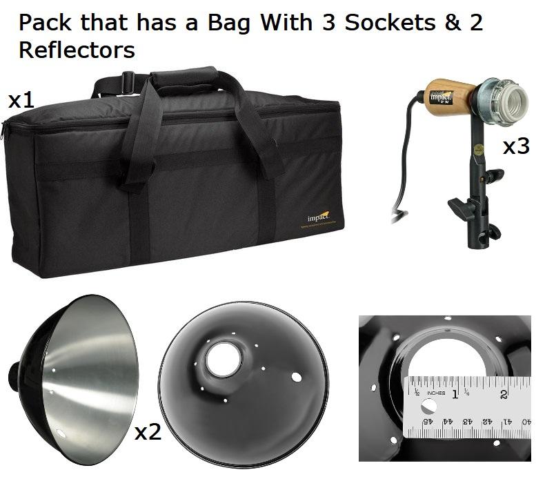 2 Pack Impact Single Socket Fluorescent Fixture